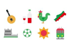Vetor livre de ícones de portugal