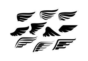 Vector de silhueta da coleção Wings grátis