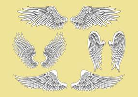 Ilustração vetorial abstrata conjunto de asas