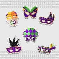 máscara incrível de mardi gras para carnaval vetor