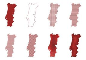 Mapa Moderno de Portugal vetor