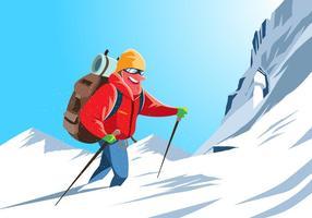 Vetor alpinista alpinista