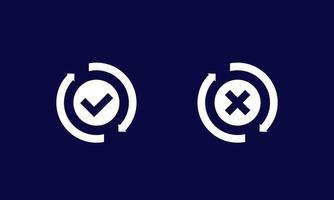 ícone de troca, conversão concluída ou falha