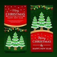 modelo de banner de feliz natal e feliz ano novo