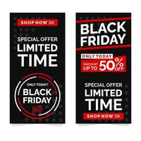 modelo de design de banner black friday