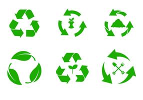 Vector do símbolo de compostagem