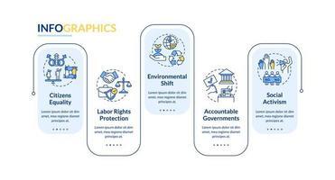 modelo de infográfico de valores de mudança social vetor