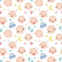 conjunto de rosto de bebê