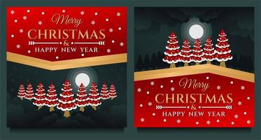 banner de feliz natal e feliz ano novo vetor