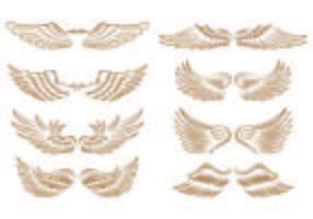 Conjunto de ícones de asas de anjo vetor