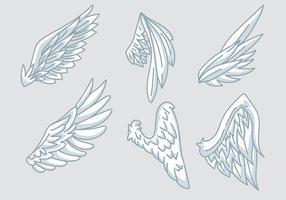 Ícones de vetor de asas de anjo