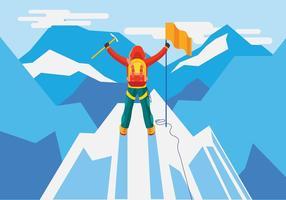 Visão conceitual alpinista vetor