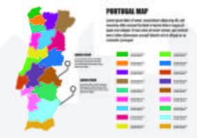 Mapa de Portugal Infográfico vetor