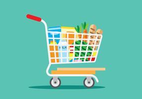 Compra de mercearia vetor