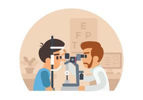 Ilustração do teste do olho vetor