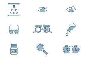Ícones de Optometria vetor