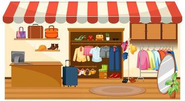 fundo de loja de roupas da moda vetor