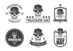 Logotipo do chapéu do camionista Vector grátis