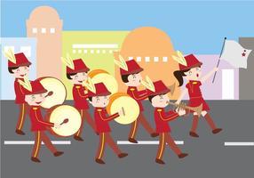 Desfile de Marching Band vetor