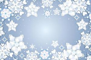 floco de neve com diferentes variantes de estilo vetor