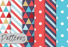 Conjunto de padrões geométricos coloridos