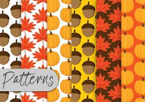 Conjunto Padrão de Outono vetor