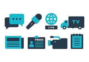 Pacote de ícones do jornalista vetor