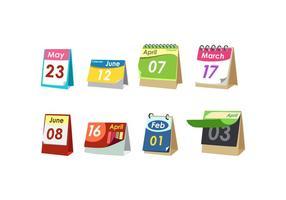Calendário de Desktop Simples Vector Grátis