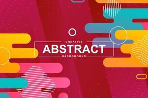 design abstrato com formas dinâmicas no estilo memphis