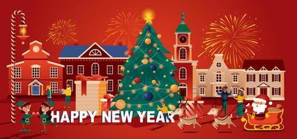 cartão comemorativo de feliz natal estilo simples vetor