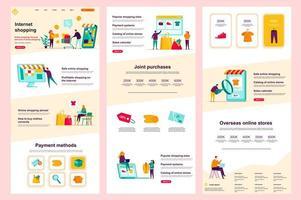 página inicial plana de compras na internet