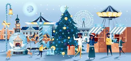 design de cartão para feira de natal
