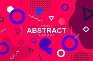 desenho abstrato com formas geométricas no estilo memphis