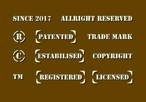 Vetor de direitos autorais do estêncil