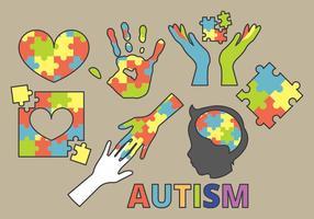 Símbolo do autismo vetor