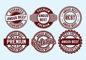 Vetor de selo de carne de Angus