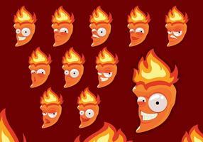 Vetor de Personagens de Desenhos animados Habanero