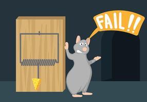 Vector da ilustração da armadilha do mouse