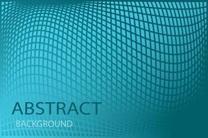 abstração de célula curva, superfície visualmente inchada em azul vetor