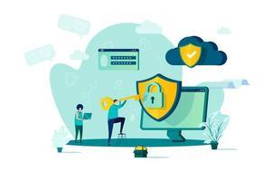 conceito de segurança cibernética em estilo simples