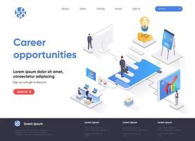 página de destino isométrica de oportunidades de carreira