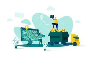 conceito de entrega online em estilo simples
