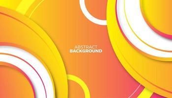 design abstrato de círculos gradientes brilhantes em camadas vetor