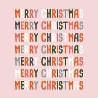 feliz natal letras texto letras design de cartão vetor