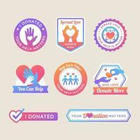 etiqueta de conscientização de doação vetor