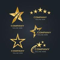logotipo da estrela dourada vetor