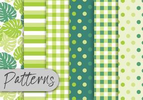 Conjunto de padrões verdes tropicais vetor