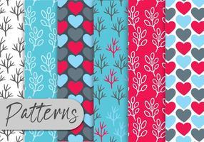 Conjunto de padrões florais coloridos