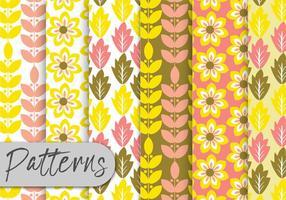 Conjunto de padrões decorativos amarelos vetor