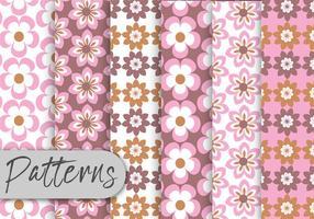 Conjunto de padrões florais Pastel vetor